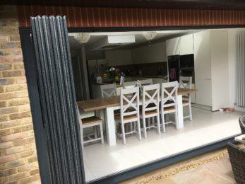 grey ULTRASLIM doors to patio