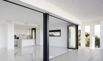 2 sets of ULTRASLIM doors, open